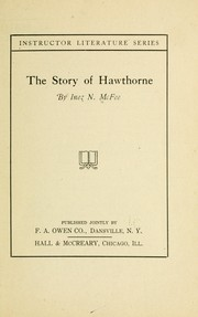 Cover of: The story of Hawthorne