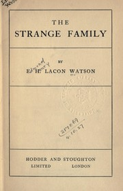 Cover of: The Strange family | E. H. Lacon Watson