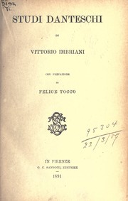Cover of: Studi danteschi