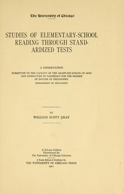 Cover of: Studies of elementary-school reading through standardized tests ...