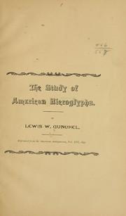 The study of American hieroglyphs.