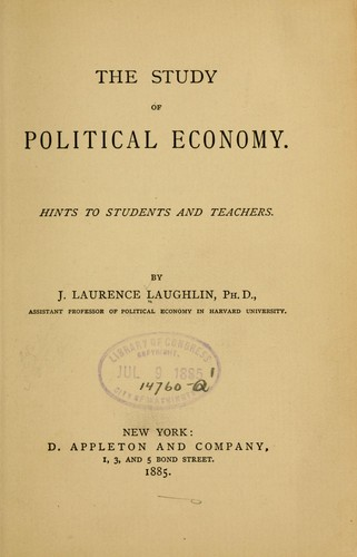 The study of political economy.