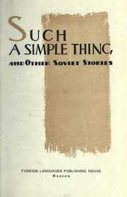 Cover of: Such a simple thing |