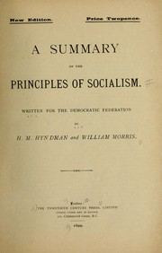 Cover of: A summary of the principles of socialism