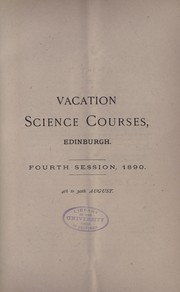 Cover of: A summer school of science