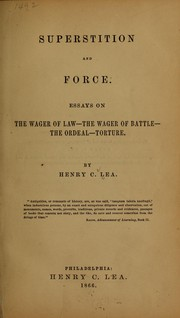 Cover of: Superstition and force