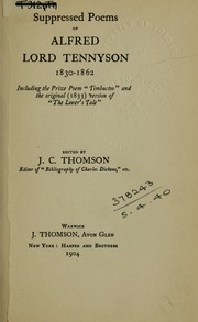 Cover of: Suppressed poems | Alfred, Lord Tennyson