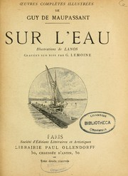 Cover of: Sur l'eau