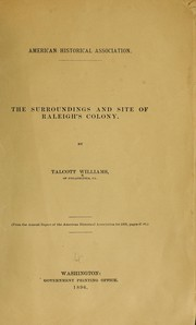 Cover of: The surroundings and site of Raleigh's colony