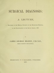 Cover of: Surgical diagnosis | James George Beaney