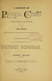Cover of: A system of physical culture for public schools | Carl Betz