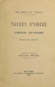 Cover of: --Taches d'encre