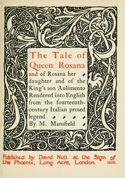 Cover of: The tale of Queen Rosana |