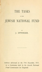 Cover of: The tasks of the Jewish National Fund