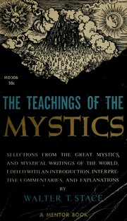 Cover of: The teachings of the mystics | W. T. Stace