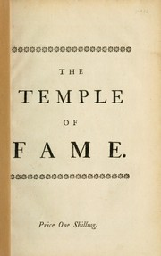 Cover of: The temple of fame: a vision