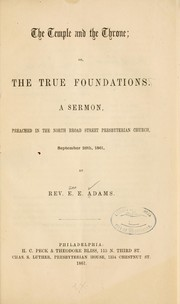 Cover of: The temple and the throne
