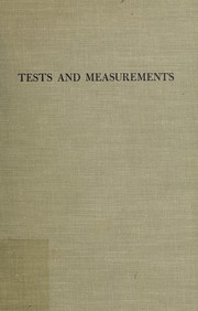 Cover of: Tests and measurements | Jum C. Nunnally