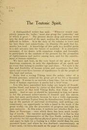 Cover of: The Teutonic spirit