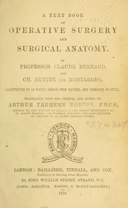 Cover of: A text book of operative surgery and surgical anatomy