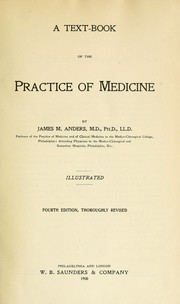 Cover of: A text-book of the Practice of medicine | James M. Anders