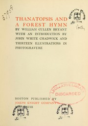 Cover of: Thanatopsis and a forest hymn
