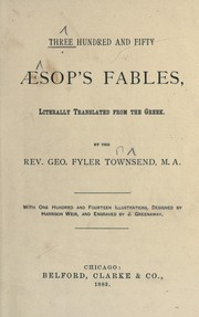 Cover of: Three hundred and fifty AEsop's fables