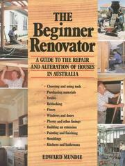 Cover of: The Beginner Renovator