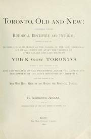 Cover of: Toronto, old and new