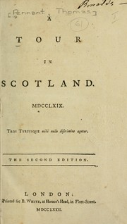 Cover of: A tour in Scotland, 1769