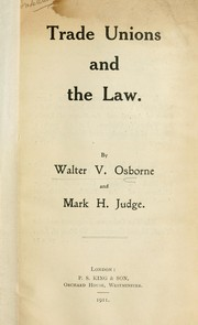 Cover of: Trade unions and the law