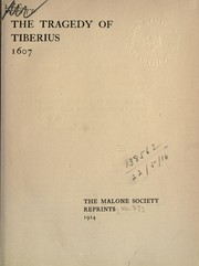 Cover of: The tragedy of Tiberius