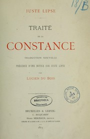 Cover of: Traité de la constance