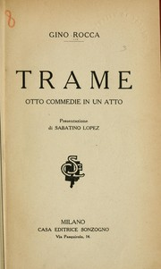 Cover of: Trame