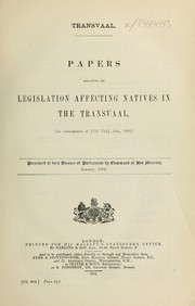 Cover of: Transvaal. | Great Britain. Colonial Office.