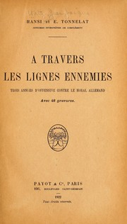 Cover of: À travers les lignes ennemies