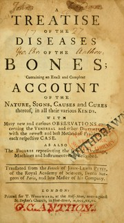 Cover of: A treatise of the diseases of the bones