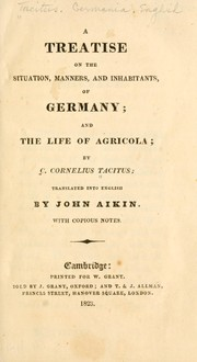 Cover of: A treatise on the situation, manners, and inhabitants of Germany