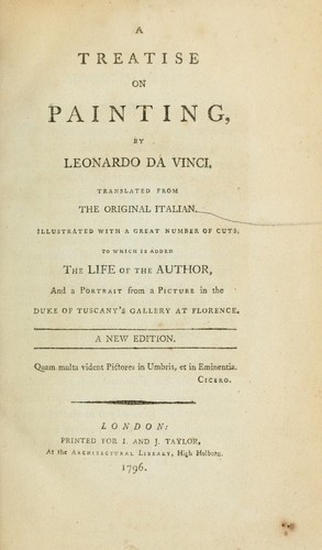 A treatise on painting by Leonardo da Vinci