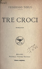 Cover of: Tre croci