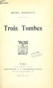 Cover of: Trois tombes