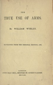 Cover of: The true use of arms