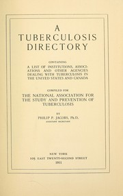 Cover of: A tuberculosis directory