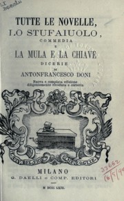 Cover of: Tutte le novelle
