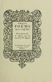 Cover of: Twelve poems