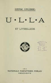 Cover of: Ulla