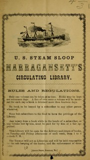 Cover of: U.S. Steam Sloop Narragansett's circulating library by Narragansett (Steam sloop)