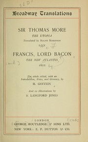 Cover of: The Utopia Of Sir Thomas More