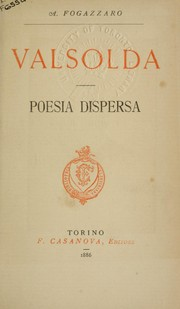 Cover of: Valsolda