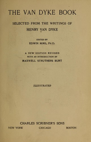 The Van Dyke book